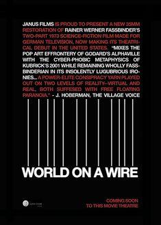 World on a Wire (1973) - Rainer Werner Fassbinder