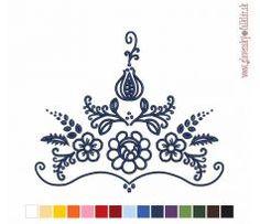 Výšivka Habáni 25x21 cm Machine Embroidery, Cross Stitch, Ornaments, Tattoos, Crafts, Inspiration, Powder Room, Napkins, Biblical Inspiration