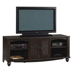 Have to have it. Sauder Harbor View Entertainment Credenza - Antiqued Paint - $181.99 @hayneedle.com