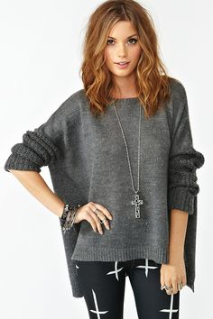 loving this sweater for fall...not so much the leggings though