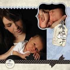 French Baby Digital Scrapbooking Kit 3