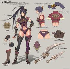 韩国游戏ARA设定的PSD文件 转自:http://cciup.com/archives/26426