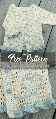 Blank Canvas Cardi – Pattern Free – Easy Crochet The Effective Pictures We Offer You About Crochet accessories A quality picture can tell you many. Crochet Baby Cardigan Free Pattern, Crochet Baby Sweaters, Crochet Jumper, Crochet Coat, Crochet Quilt, Baby Girl Crochet, Crochet Baby Clothes, Easy Crochet Patterns, Crochet For Kids