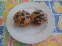 No Grain Blueberry Muffins (contains baking powder)