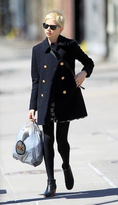 michelle williams - 'Boy' by Band of Outsiders peacoat