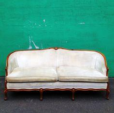 Vintage French Carved Velvet Sofa by at1stsight on Etsy, $645.00