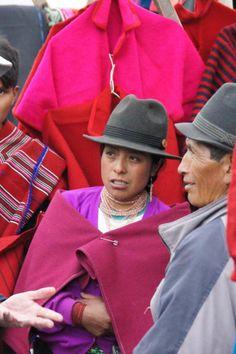 An Indigenous Market in central Ecuador