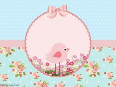 Pink Bird in Shabby Chic: Free Printable Kit. | Oh My Quinceaneras!