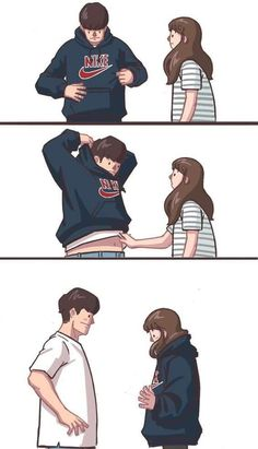 Extremely cute paintings of the love of artists from Korea Gyung is sure to make you smile and have more confidence in the emotion wonders of this world. Love Cartoon Couple, Cute Couple Comics, Couples Comics, Cute Love Cartoons, Cute Couple Art, Anime Love Couple, Cute Comics, Anime Couples, Relationship Comics