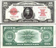 US  10 Dollar Note     Series 1923     Serial# A695989B     Signatures: Speelman / White      Portrait: Andrew Jackson