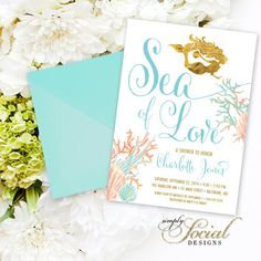 Under the Sea Mermaid Bridal Shower by SimplySocialDesigns on Etsy