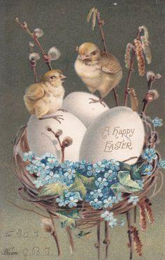 Vintage easter Postcards | Homespun Hugs and Calico Kisses: Vintage Easter Postcards