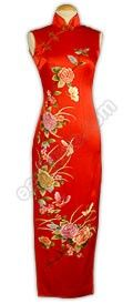 Ceremonious Peony Embroidered Silk Cheongsam : EastStore.com