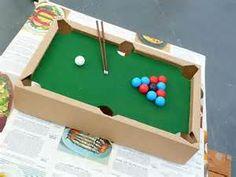 cardboard pool table - Bing Images