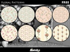 This is the thirth part of 5 pattern sets. Each set has 8 patterns. I just wanted some nice floral patterns ingame. So here they are. Make sure that your game is fully patched and up to date for...