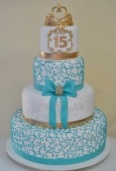 this would be cute in gold and red #cake15thbirthday #15years