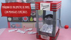 Máquina PALOMITAS de Papel con Mensajes Craft Gifts, Diy Gifts, Paper Crafts Origami, Original Gifts, Candy Gifts, Scrapbook, Summer Diy, Love Gifts, Boyfriend Gifts