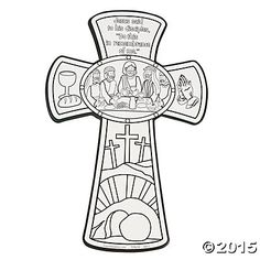 Color Your Own Last Supper Cross Cutouts - Oriental Trading