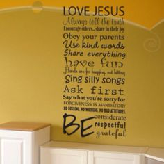 Wall decor of rules. Cute for playroom