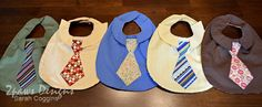 I mentioned in yesterday's post that the only girl in our playgroup celebrated her 2nd birthday over the weekend. When I stumbled across the idea of Shirt & Tie Bibs by Modest Maven on Pinterest, I instantly thought of our playgroup and how cute the 2 year old boys would look wearing them at her …