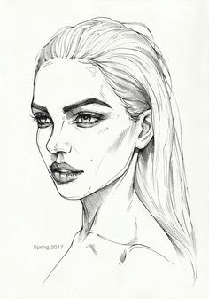 Quick pencil sketch on paper. Model: Dasha Derevyankina ---------- My . - Quick pencil sketch on paper. Model: Dasha Derevyankina ———- My links: Buy … - Pencil Art Drawings, Art Drawings Sketches, Sketch Art, Pencil Sketches Of Faces, Model Sketch, Portrait Sketches, Horse Drawings, Pencil Portrait, Art Images