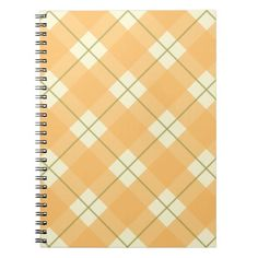 Yellow Plaid Spiral Bound Notebook / Journal