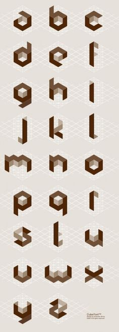 cube type #typography
