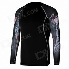 QNGLONN SM Men's Long-Sleeve Cycling Jersey - Black (Size-L) Price: $21.80