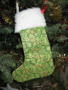 Botte de père Noël en tissu facile à faire à accrocher au sapin!