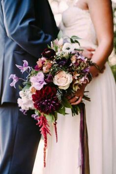 Masala, purple and blush bouquet
