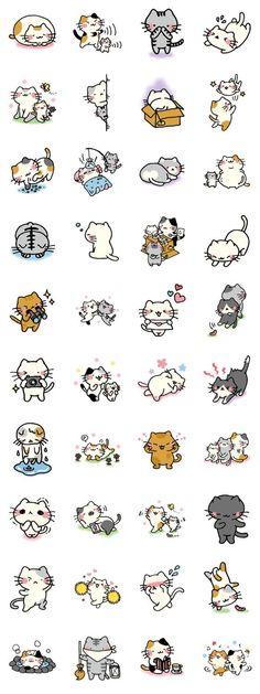 Chat Kawaii, Kawaii Cat, Doodles Bonitos, Chibi, Image Chat, Cute Doodles, Kawaii Doodles, Kawaii Drawings, Cute Illustration