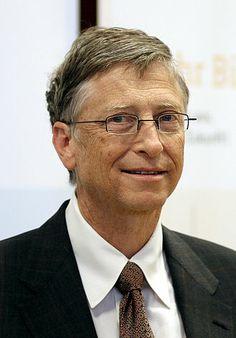 Bill Gates :  empresario y filántropo estadounidense, fundador de la empresa de software Microsoft. Patrocina proyectos para mejorar salud y educación a nivel local, especialmente en las regiones menos favorecidas del mundo