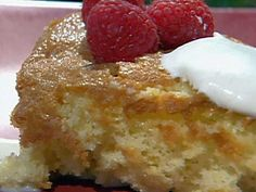 CRAVING my delicious wedding cake right now.... tres leches recipe, but substitute whipped cream frosting and add peaches in between the layers