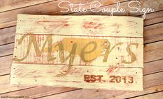 DIY State Couple Sign from It Happens in a Blink (a Silhouette Project)