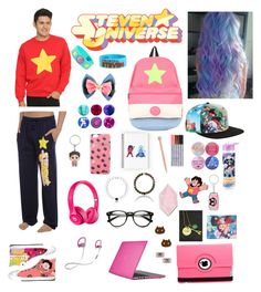 """""""Steven Universe⭐️💕"""" by boyddev ❤ liked on Polyvore featuring Harrods, Cartoon Network, Beats by Dr. Dre, Speck, Natico and Big Bud Press"""