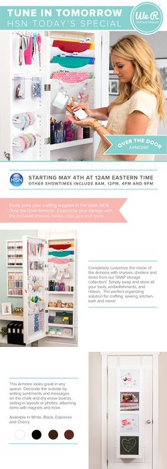 HSN Scrapbooking: Becky Higgins Presents New Project Life Over The Door  Customizable Armoire