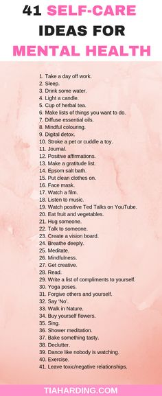Self-Care Ideas For Depression And Anxiety Mental Health: 41 Self-Care Ideas For Depression And Anxiety.Mental Health: 41 Self-Care Ideas For Depression And Anxiety. Health Tips, Health Care, Health Goals, Health And Beauty Tips, Health Facts, Health Articles, Motivacional Quotes, Self Care Activities, Coconut Health Benefits