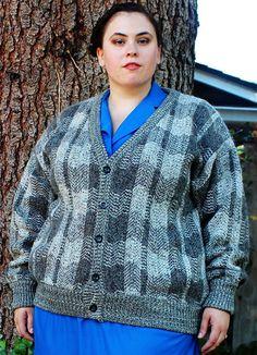 Plus Size  Vintage Menswear Unisex Tweed Cardigan by TheCurvyElle, $45.00