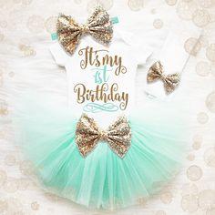 1st Birthday Shirt  1st Birthday Girl Outfit  First Birthday
