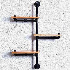 Amazon.com: Bathroom Ladder Shelf, Rustic Bathroom Shelf, Industrial Shelf, Farmhouse Shelf, Cottage Chic, Home Décor, Shelf w/pipe Towel Bar Each Wood size 30*15cm Industrial Decor-Z22: Home & Kitchen