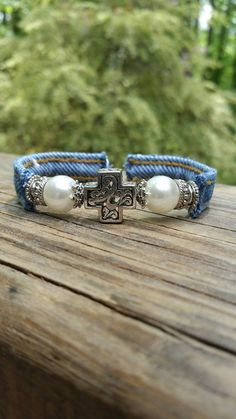 Check out this item in my Etsy shop https://www.etsy.com/listing/277746762/upcycled-denim-wire-cuff-bracelet-with