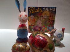 Vintage Easter decorations.
