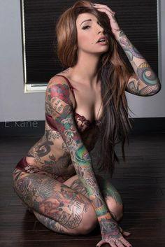 inked girls and hot tattoos Hot Tattoos, Body Art Tattoos, Girl Tattoos, Tattoos For Women, Tatoos, Hot Inked Girls, Hot Tattoo Girls, Tattoed Women, Tattoed Girls