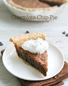 Chocolate Chip Pie #
