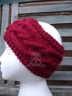 Your place to buy and sell all things handmade Winter Springs, Ear Warmers, Neck Warmer, Cable Knit, Hand Knitting, Winter Hats, Crochet Hats, Pure Products, Wool