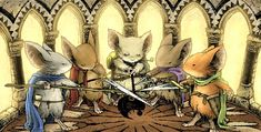 The Mouse Guard roleplaying game is based on a comic book series of the same name by David Peterson. The basic premise is mice with human level intelligence trying to protect their fragile civilization from ...