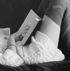 Reading on the couch