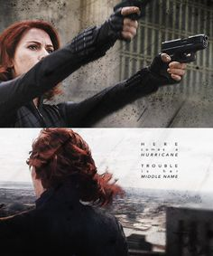 """Black Widow: """"I don't look for trouble but trouble looks for me."""""""