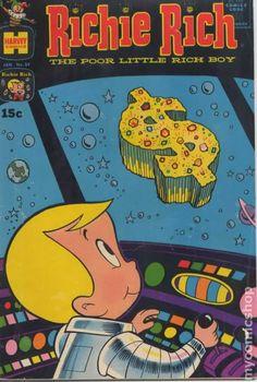 Richie Rich (Jan Harvey) for sale online Classic Cartoon Characters, Cartoon Books, Classic Cartoons, Comic Book Characters, Comic Character, Cartoon Posters, Classic Comics, Vintage Comics, Vintage Books