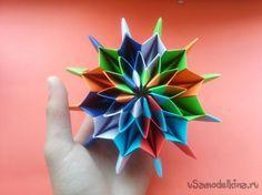 Оригами -  делаем Фейерверк перевёртыш